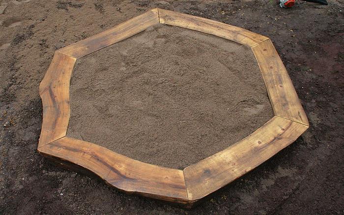 Holzarbeiten - Sandkasten