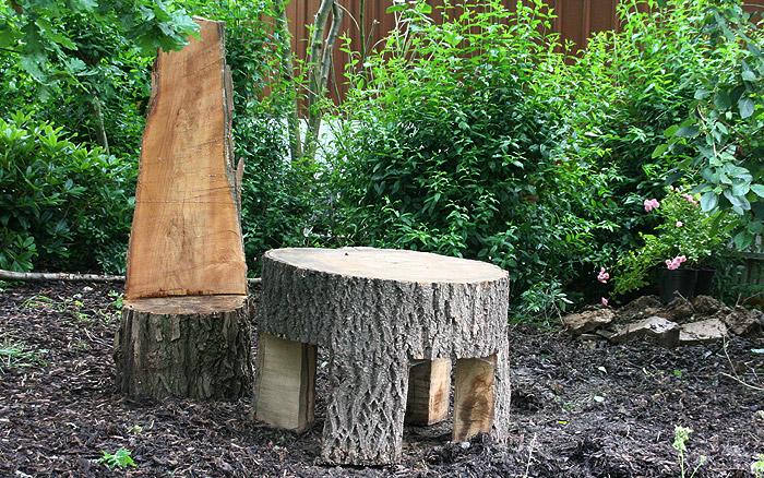 Holzarbeiten - Stuhl und Tisch